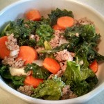 Turkey Kale Carrot Stirfry