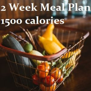 2 week meal plan 1500 calories
